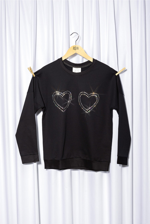 Crystal Heart Sweater