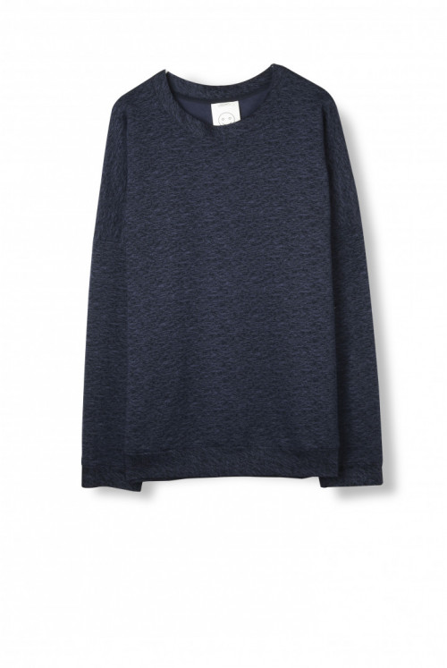 Heavy Sweater – Navy Melange